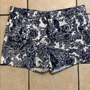 Adorable Blue and White Paisley print shorts